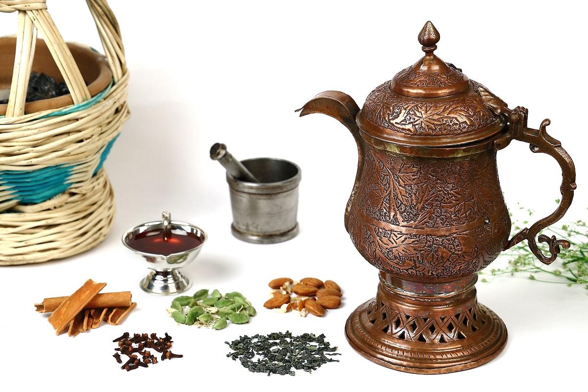 Recipe for Kashmir Kahwa (Green Tea)